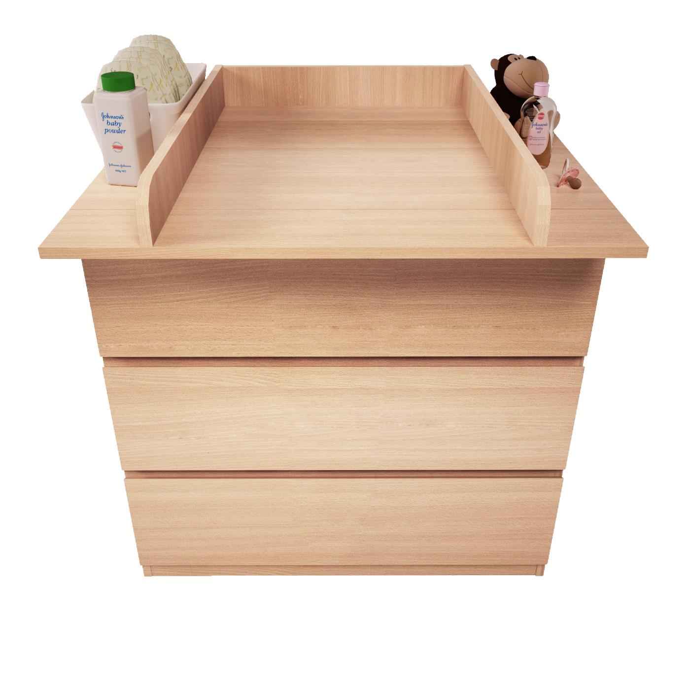 Polini-Kids-Wickelaufsatz-fuer-Kommode-MALM-IKEA-Farbauswahl